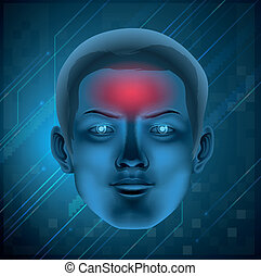 Headache concept - Illustration of a headache concept