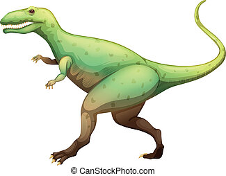 Giganotosaurus - Illustration showing a Giganotosaurus