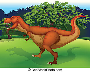 Tyrannosaurus - Illustration showing the T. Rex
