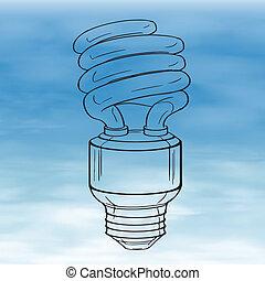 Light bulb - Illustration of a light bulb