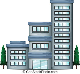 A tall condo building - Illustration of a tall condo...