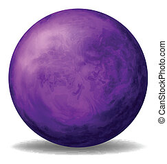 A violet ball - Illustration of a violet ball on a white...