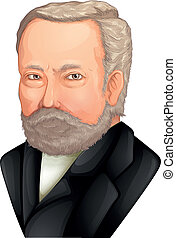 Louis Pasteur - Color Drawing of Louis Pasteur