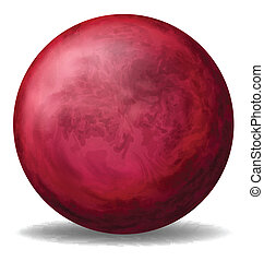 A red ball - Illustration of a red ball on a white...