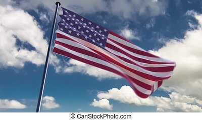USA Flag, HQ animated, neutral - ready to use animation of...