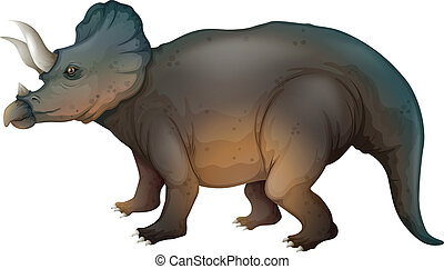 Triceratops - Illustration showing a triceratops