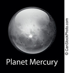Planet Mercury - Illustration of the planet Mercury