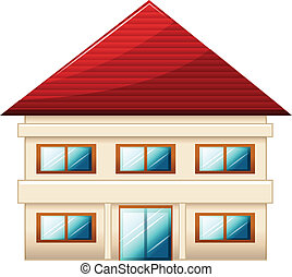 A two-story single detached house - Illustration of a...
