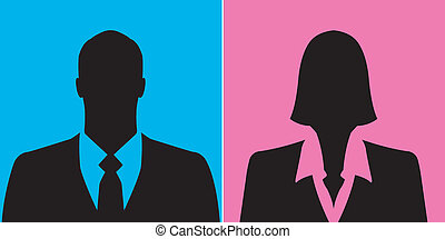 Businessman and businesswoman icons - Businessman and...