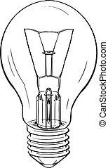 Light bulb - Illustration of a light bulb on white