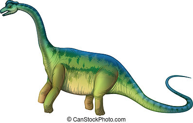 Brachiosaurus - Illustration of a Brachiosaurus