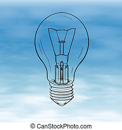 Light Bulb - Illustration showing a bulb