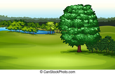 Natural Environment - Illustration showing the natural...