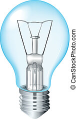 Incandescent Light Bulb - Illustration of an Incandescent...