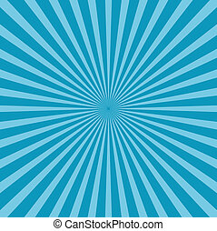 Blue sunburst style background - Abstract blue sunburst...