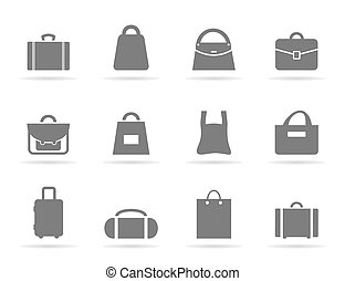 Bag an icon - Set of icons of bags. A vector illustration