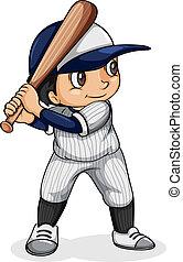 An Asian baseball player