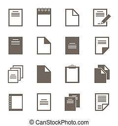 File an icon2 - Set of icons of files. A vector illustration