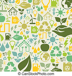 Ecology a background - Background made of ecology A vector...