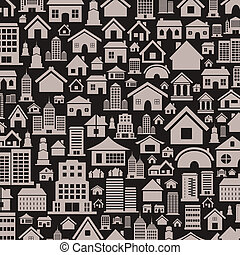 House a background4 - Background made of houses. A vector...