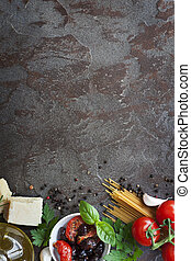 Italian Food Background with Space for Text