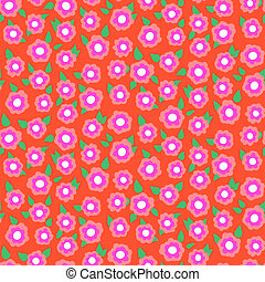 Ditsy floral pattern with small cherry flowers