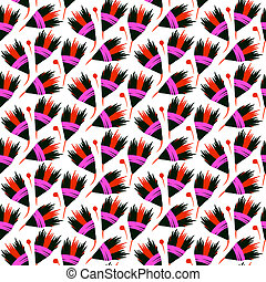 Vector seamless floral pattern with black tulips