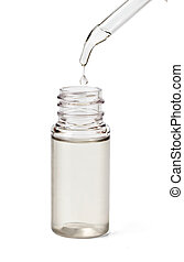 bottle with dropper - Medicine bottle with dropper isolated...