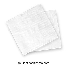 napkin - White Square Bar Napkin Isolated on White...