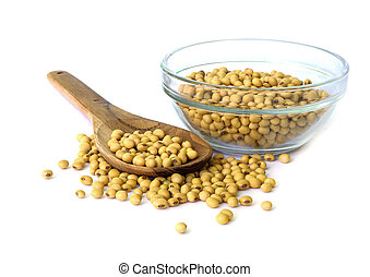 Soybean - Soybean on bowl isolated on a white background