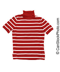 sweater - dress striped red sweater isolated on white