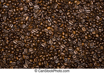 coffee beans background - background of brown roasted coffee...