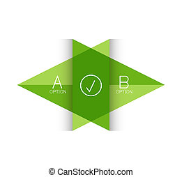 Vector color paper arrow design template for business...