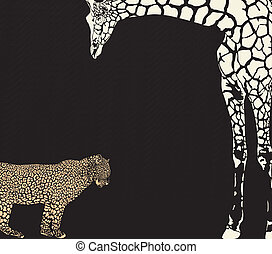Inverse leopard and giraffe camoufl - vector illustration of...