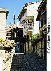 Nessebar - Small And Narrow Street In Old Nessebar, Bulgaria