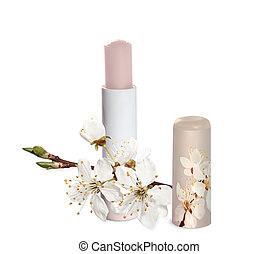 Chapstick with sakura flowers