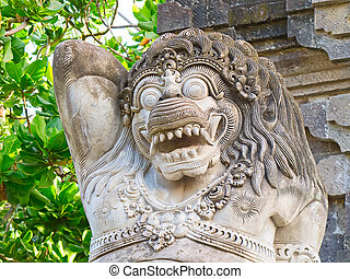 Traditional balinese sculpture