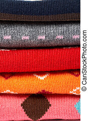 Several colors clothes stack - Background of several colors...