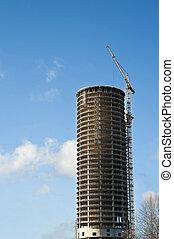 建築物, 植物, 現代, 安裝, 建設, 起重機