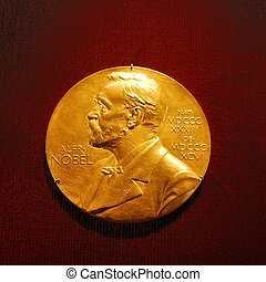 Medallion of the Alfred Nobel, He was a Swedish chemist,...