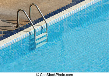 swimming pool with stair