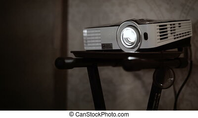 Multimedia projector - Digital multimedia projector standing...