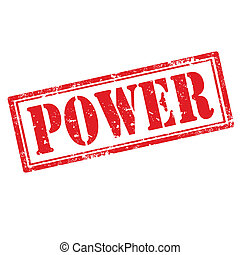 Power-stamp - Grunge rubber stamp with text Power,vector...