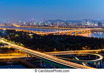 Seoul city night
