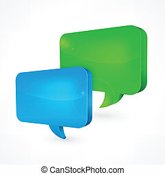 Color speech bubbles