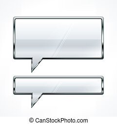 Speech bubbles metallic