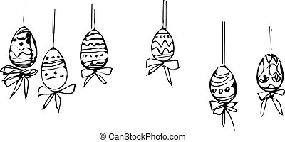 image painted Easter eggs of diffe