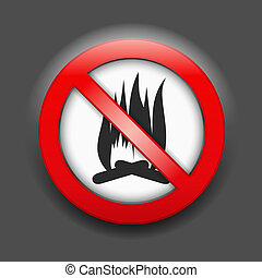 No Fire Sign - No fire sign, vector eps10 illustration