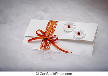 Wedding invitation - Elegant homemade wedding invitation...