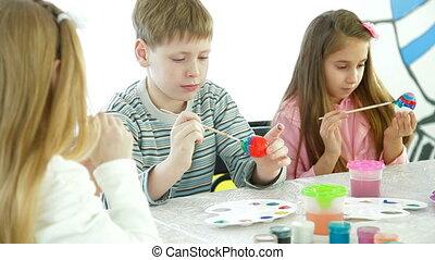 uova, pasqua, decorare, bambini